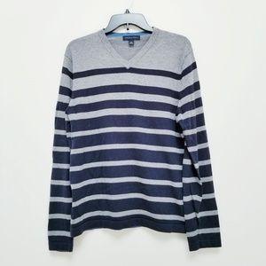 Banana Republic stripe pima cotton/wool sweater
